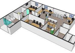 3D office plan Ireland