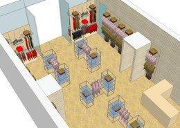 3D shop layout Ireland