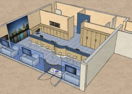 retail premises 3D plan