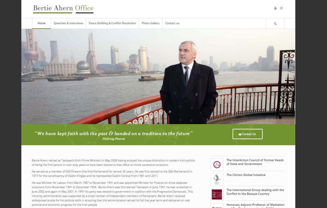 Bertie Ahern office website GFX Design Studio